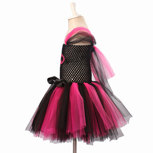 Ksummeree Hot Pink Batman Girls Tutu Dress with Mask Super Hero - Toyopia