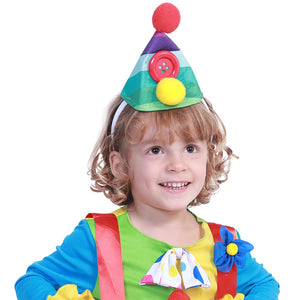 Carnival Party Costumes Boys Halloween Costume For Kids Cute Circus Clown Jumpsuit Fancy Dress Toddler Joker Children Cosplay - Toyopia