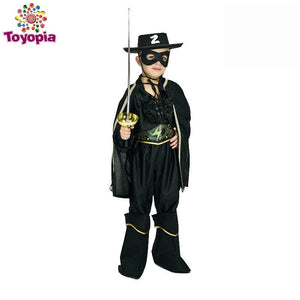 Zorro Cosplay Costume Performance Christmas&Halloween Party Hero Zorro Clothes for Kids Boy - Toyopia