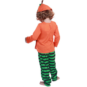 Halloween Costume For Kids Cute Toddler Orange Pumpkin Costume Children Cosplay Boys Costume Coat Pants Hat Set 1-4 T - Toyopia