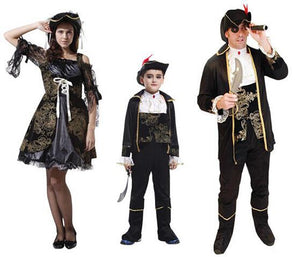 Pirate costume for family  pirates cosume set kid children couple costume halloween party clothing - Toyopia