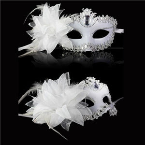 Mask Venice Feather Flower Wedding Carnival Party Performance Purple Costume  Mask Masquerade - Toyopia