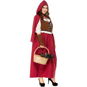 Retro Fairy Tale Little Red Riding Hood Costumes Costume for Purim Halloween Party - Toyopia