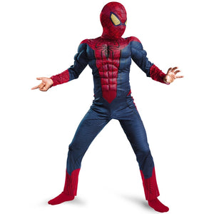 Boy Amazing Spiderman Movie Character Classic Muscle Marvel Fantasy Superhero Halloween Carnival Party Costume - Toyopia