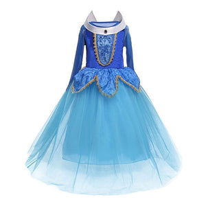 Kids Girls Princess Sofia Rapunzel Dresses Gown Long Party Dress ,Costume Masquerade 4 10yr - Toyopia
