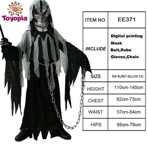 Kid's Halloween Mr.Grim Costume Cosplay Children Horror Death Vampire Halloween Cosplay Party Costumes - Toyopia