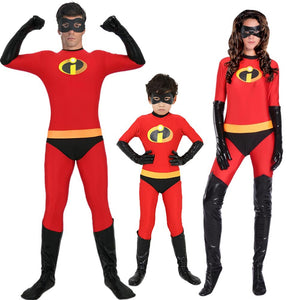 Incredibles 2 Costume Classic Mr and Mrs Incredible Cosplay Outfit Adult Kids Dash Violet Costume Superhero Family Fancy Dress - Toyopia