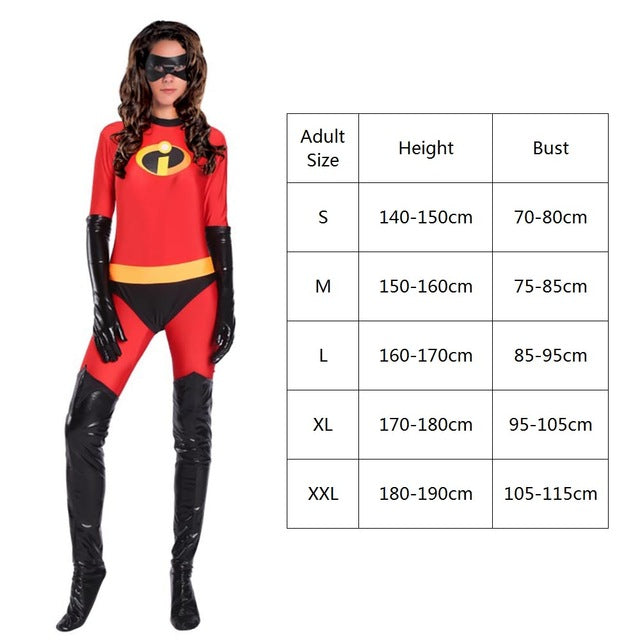 Mens Mr Incredible Deluxe Fancy Dress Costume Adults Superhero Movie Outfit