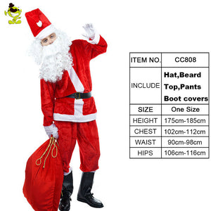 Santa Suit Christmas Santa Claus Role Play Costumes Christmas Fancy Dress  Hot Sale Christmas Party Costume - Toyopia