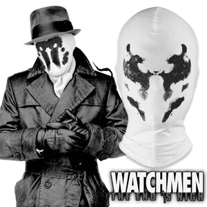 Watchmen Rorschach Mask Walter Kovacs Cosplay White Inkblot Full Face Cotton Mask Halloween Costume Party Funny Masks Props - Toyopia