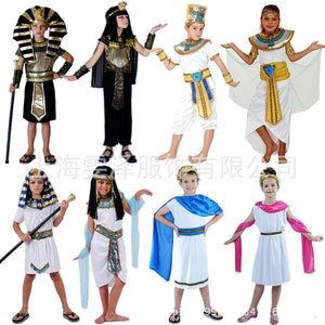 Umorden Costumes Boy Girl Ancient Egypt Egyptian Pharaoh Cleopatra Prince Princess Costume for Children Kids Cosplay - Toyopia