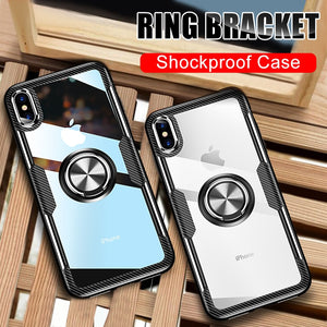 NOWSELLERS™ Luxury Magnetic Ring Bracket Case On The For iphone
