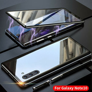 NOWSELLERS™ Magnetic Absorption Front+Back Glass Case For Samsung Galaxy Note 10 Plus