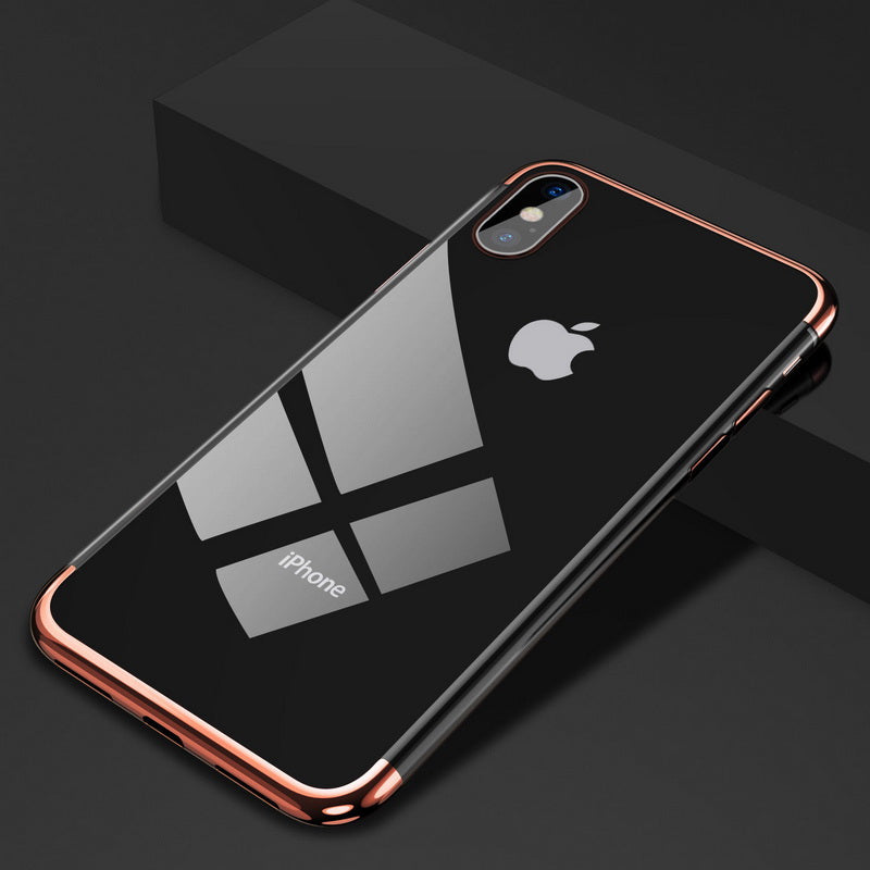 Electroplated Bumper Case For iPhone 7 8 6 6s s Plus Luxury Transparent Soft Silicon Plating Cover For iPhone X XR XS Max Shell - Now Sellers