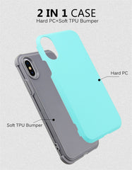 Shockproof Phone Cases For iPhone 6 6S 7 8 Plus X XS XR Case Durable PC+TPU 2 Layer Hybrid Anti-Knock Full Body Protective Cover - first-sellers