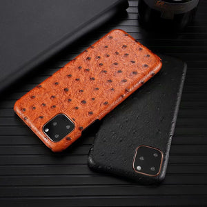 Luxury Genuine Leather Phone Case for Apple iPhone 11 Pro Max Cow Hide Leather Cover Fashion - Now Sellers