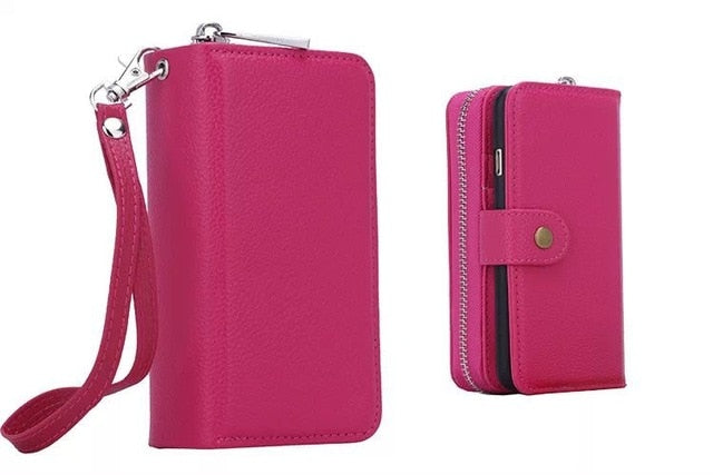 Luxury Wallet Leather Case For iPhone 5S 6 6S 7 8 Plus X XR XS Max iphone 11 pro max - Now Sellers