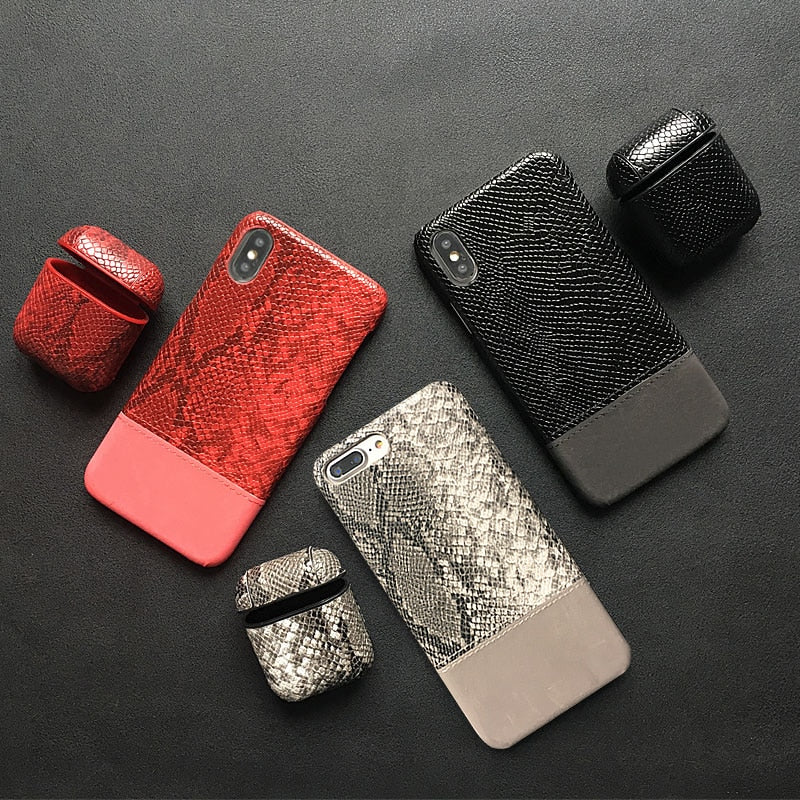 Snake Skin Leather Phone Case For iphone 11 Pro XS Max XR 5 6 6s 7 8 Plus X - Now Sellers