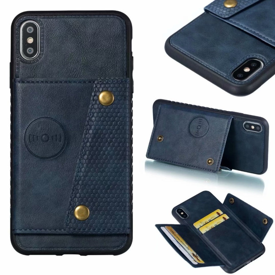 Multi Card Holders Wallet Case For iPhone 11Pro Xs Max XR X iPhone 6 6S 7 8 Plus - Now Sellers