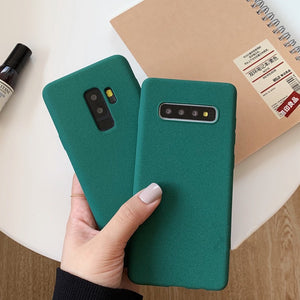 Pine green Frosted Soft Case For Samsung Galaxy Note 10 8 9 S8 S9 S10 Plus - Now Sellers