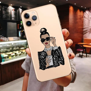 Princess Female boss coffee Case For iPhone 11 Pro Max iPhone X 7 8 Plus XR XS Max 2020 - Now Sellers