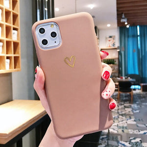 Gold Love Heart Case For iPhone 11 Pro X XR XS Max 7 8 6 6s Plus - Now Sellers