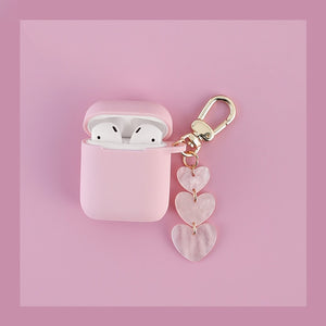 Popular Love Pink color silicone Headphone Earphone Case For Apple Airpods