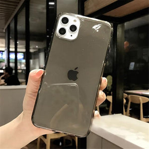 Case Candy Color Transparent Glitter For iPhone 11  For iPhone 7 8 6 6s Plus 11 Pro X XR XS Max - Now Sellers