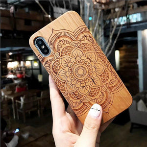 New Wood Back Cover TPU Bumper Case 2020  for iphone 6 7 7 plus 8 plus X - Now Sellers