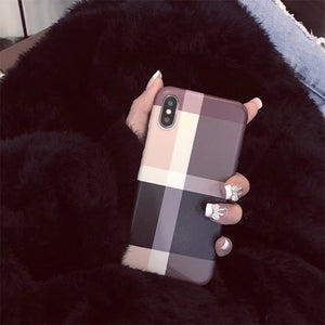 Luxury Fashion Glitter Frosted Lattice Phone Case For IPhone 11 11 Pro 11 Pro Max 6 7 8 Plus X XR XS Max