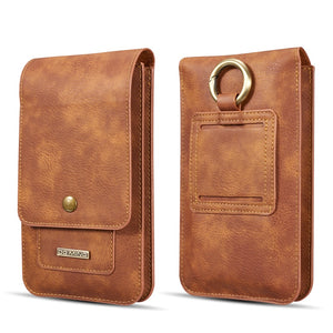 Multifunction 5.2~6.5'' Leather Phone Pouch Bags Hook Loop Belt Clip Case - Now Sellers