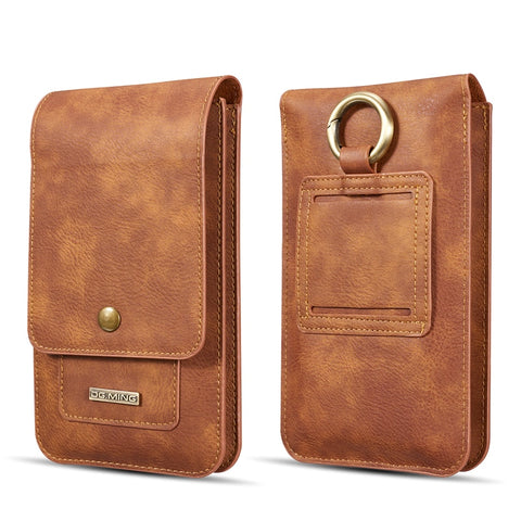 Multifunction 5.2~6.5'' Leather Phone Pouch Bags Hook Loop Belt Clip Case - first-sellers