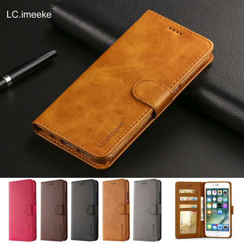 Leather Flip Case For iPhone 6 s 7 8 plus iPhone x XS Max XR Wallet Cover iphone 6s Case - first-sellers