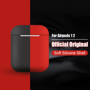 Original Official Silicone Soft Earphone Case For Apple Air pods 1 2