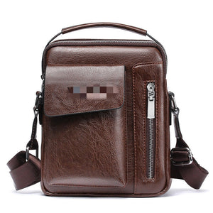 New Men Bag Luxury PU Leather Messenger For Male Small Casual Business Handbag - Now Sellers
