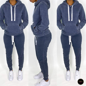 Brushed Jogging Set (Blue)