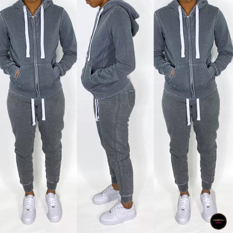 Brushed Jogging Set (Grey)