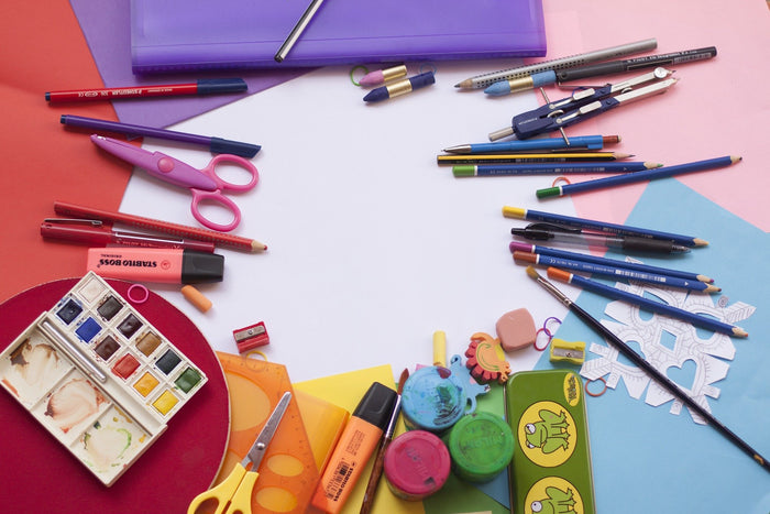 assorted wholesale school supplies for a school supply drive