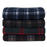 "Wholesale Plaid Fleece Blankets 50"" x 60"" - Assorted Colors"
