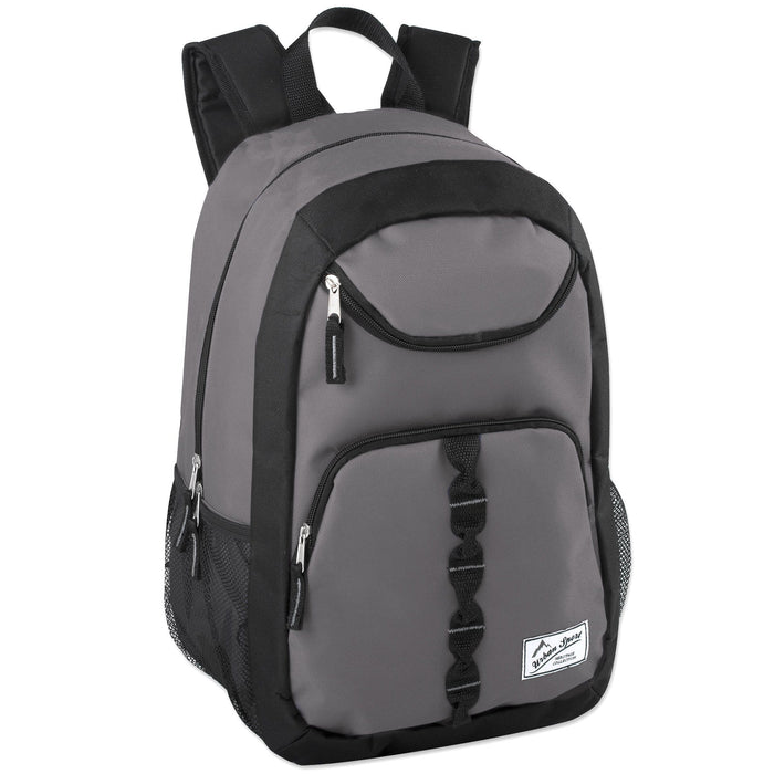 wholesale backpack in gray