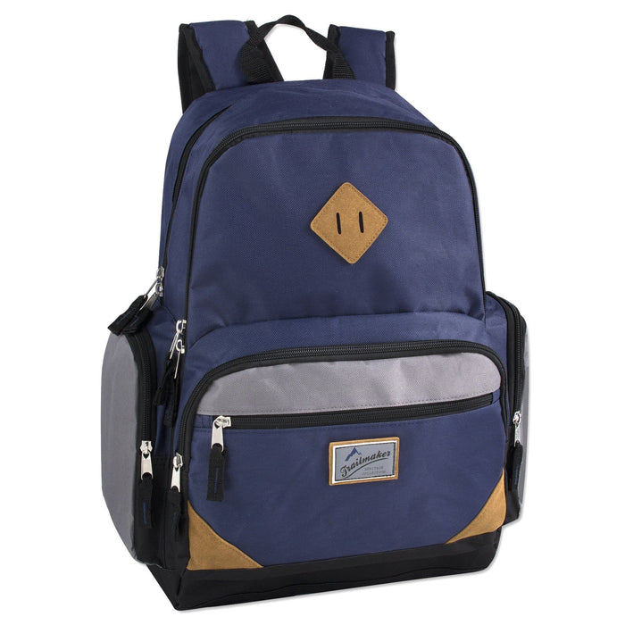 wholesale laptop backpack in navy blue