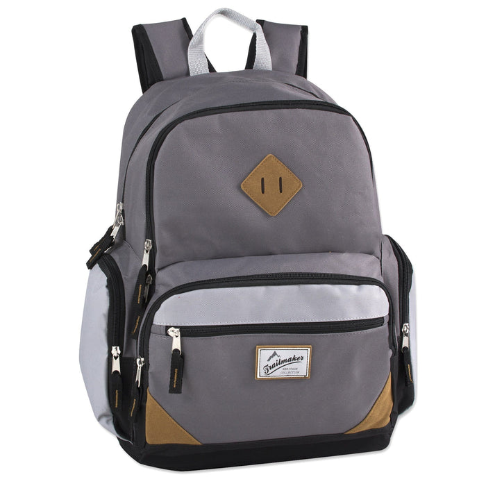 wholesale laptop backpack in gray