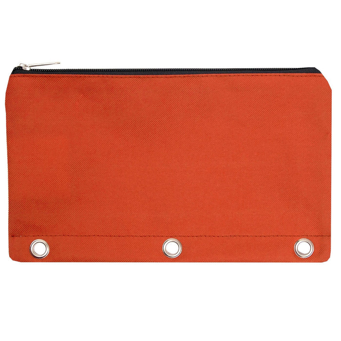 wholesale three ring pencil case in color orange