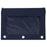 wholesale three ring pencil case with window in color navy