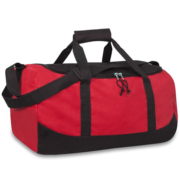wholesale duffel bag in color red