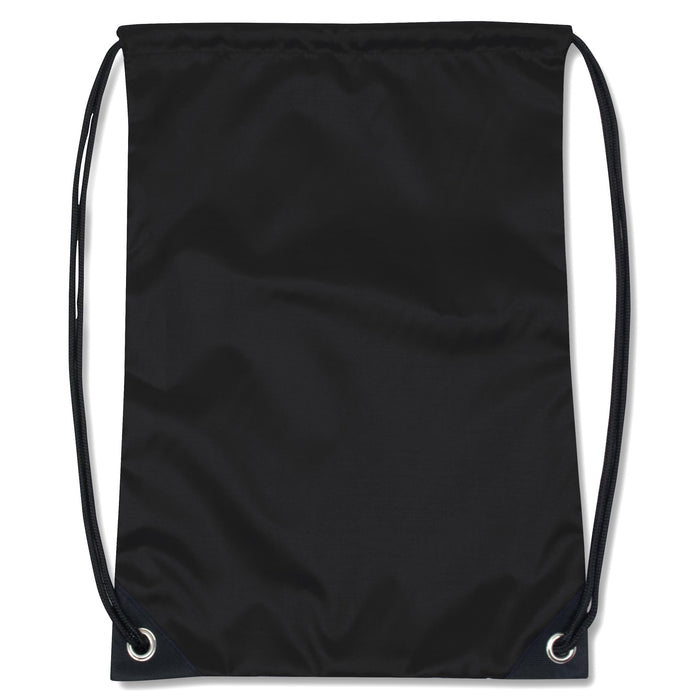 wholesale drawstring backpack in color black