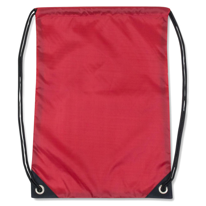 wholesale drawstring backpack in color red