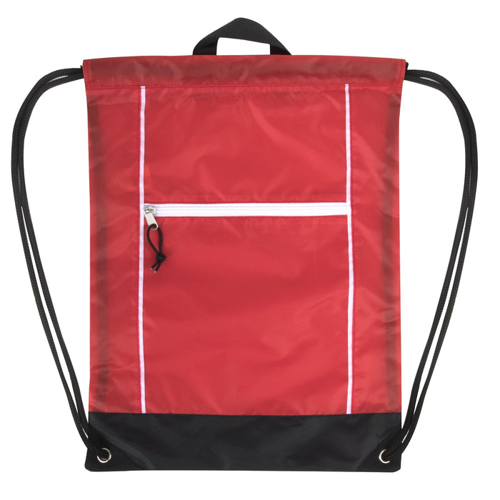 Wholesale drawstring bag in red