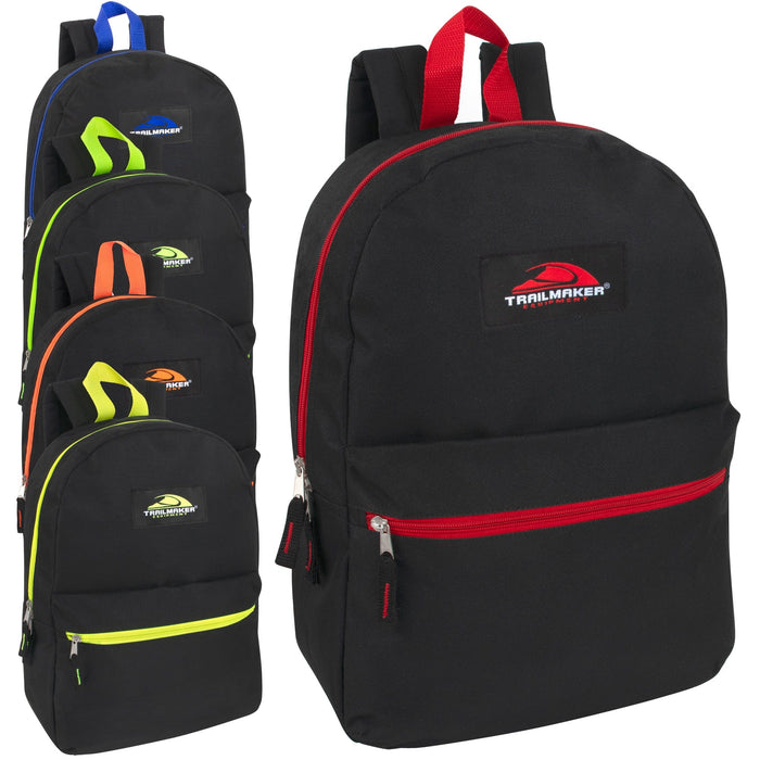 Wholesale Trailmaker 17 Inch Backpack - 5 Pop Colors