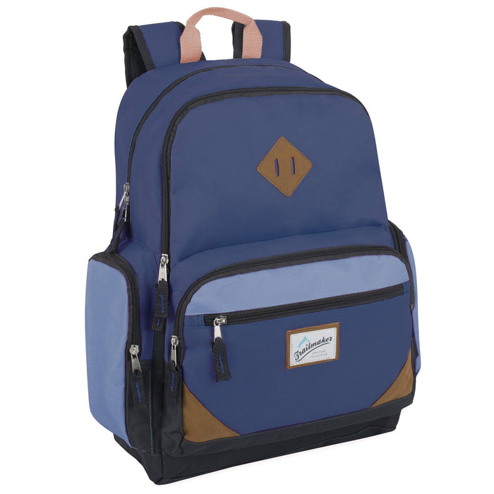 wholesale laptop backpack in navy